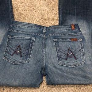 Purple rhinestone 7 jeans
